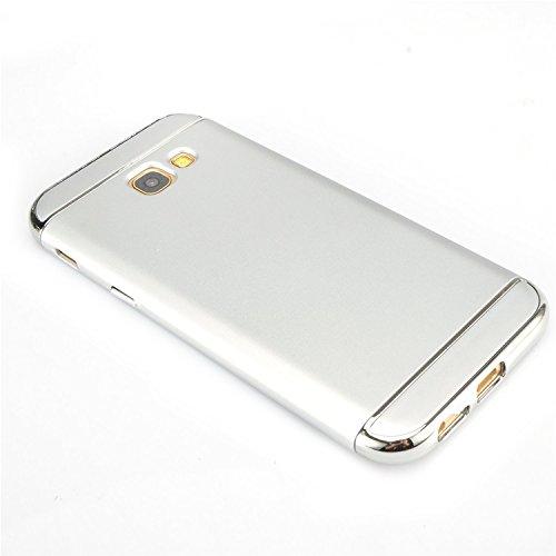 Samsung Galaxy A5 2016 Funda, Vandot Hybrid Diseño 3 en 1 Cáscara Dura de la PC Recubrimiento Metálico Marco Chapado Matte de Lujo Hard Caja de Telefono Duro Protección Cubierta Case Cover para Samsun