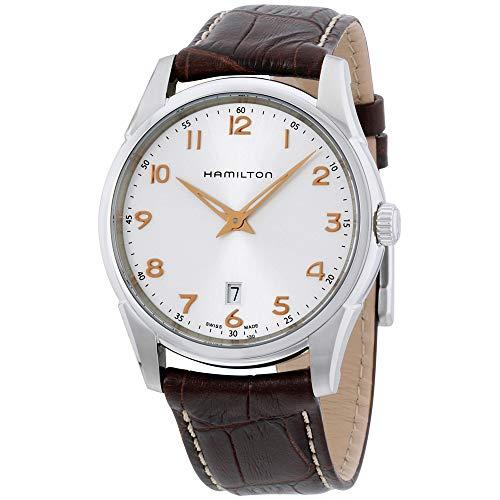 Hamilton Jazzmaster Thinline Silver Dial Leather Strap Men's Watch ()