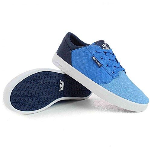 Supra - Zapatillas de Material Sintético para niño azul