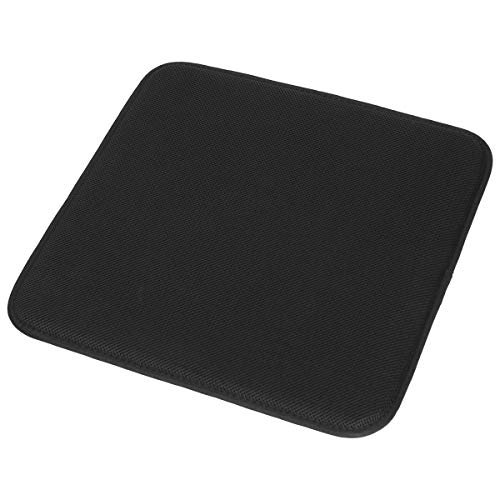 TanYoo Car Seat Cushion Memory Foam Car Seat Cushion, Seat Cushion with Super Breathtable Cover for Wheelchair/Office Chair and Anti-Slip Bottom Black (17x17 Inch, 1 PCS) (Cushions Seat Thin)