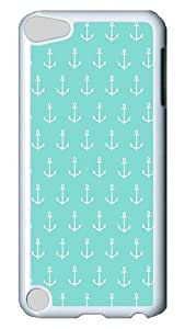 Diy Yourself iPod Touch 5 case cover, Mint Green White Anchors PC Hard Plastic case cover for Apple iPod Touch 5/ iPod gS2UYFryZCh 5th Generation White