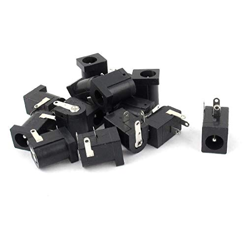 FidgetFidget 15PCS DC Power Jack Socket 2.1mm x 5.5mm PCB Mount ()