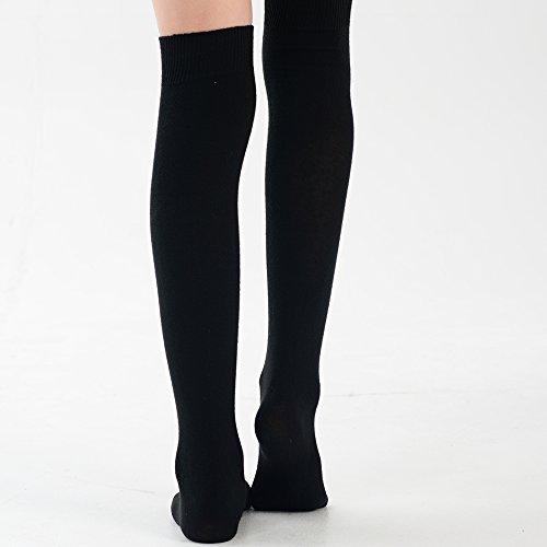 Girl Eesa Adam Black High Socks vYtdxdqwA
