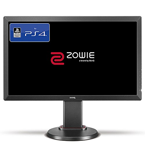 BenQ RL2460 24 inch Console e-Sports Monitor Lag-Free Technology, Head-to-Head Combat Setup, Height Adjustable Stand, Game Modes, Black Equalizer