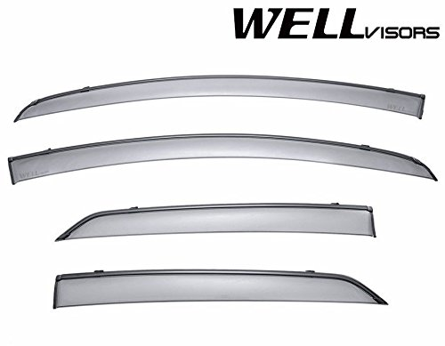 (WellVisors Side Window Wind Deflector Visors - Made for and Compatible with Toyota Yaris 4 Doors Hatchback 2009 2010 2011 with Black Trim)
