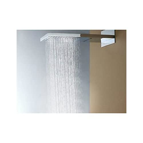 MEI Contemporary Shower System Rain Shower / Handshower Included with Ceramic Valve Single Handle One Hole for Chrome , Shower Faucet delicate