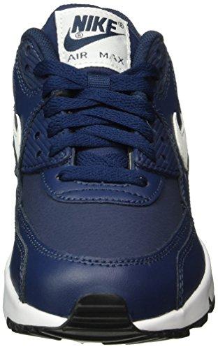 Nike Big Kids Air Max 90 Leder Laufschuhe Blau / Weiß