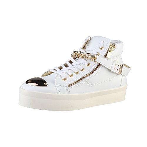 Woz DM1513_BIANCO Damenschuhe Sneakers Boots Stiefeletten, Weiß, Gr. 40