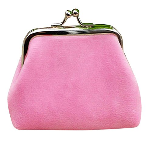 [Mosunx(TM) Womens Corduroy Small Wallet Holder Coin Purse Clutch Handbag Bag (Pink)] (Womens Pink Corduroy)