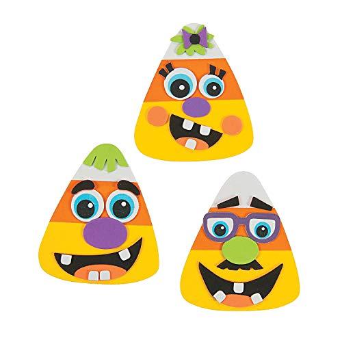 Cute Halloween Crafts For Kids (Fun Express 12 Goofy Silly Face Candy Corn Magnet Halloween Craft)