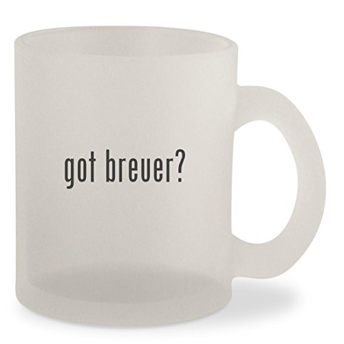 got breuer? - Frosted 10oz Glass Coffee Cup Mug (Seat Cane Replacement Breuer)