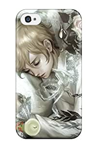 Iphone 4/4s Case, Premium Protective Case With Awesome Look - Blondes Flowers Shortlying Down Artwork Coffin Candles Midori Foo