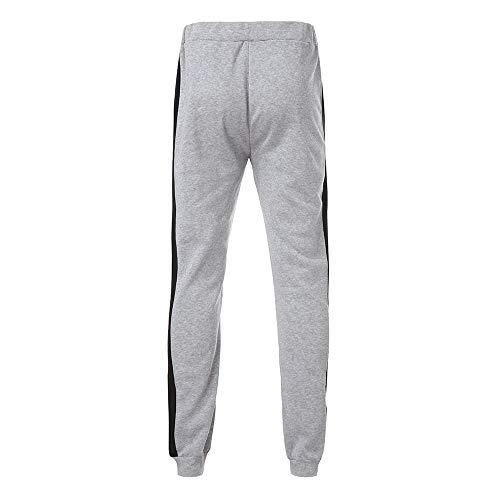 Stampati Grigio Autunno Trousers Patchwork Jogging Pantaloni Wqianghzi Tasche Tuta Coulisse Laterali Pants Uomo Sportiva Sportivi Uomini Casuale vvqpXax6