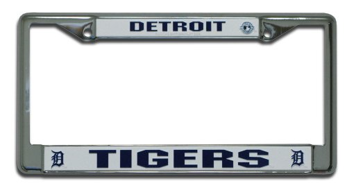 MLB Detroit Tigers Chrome License Plate Frame