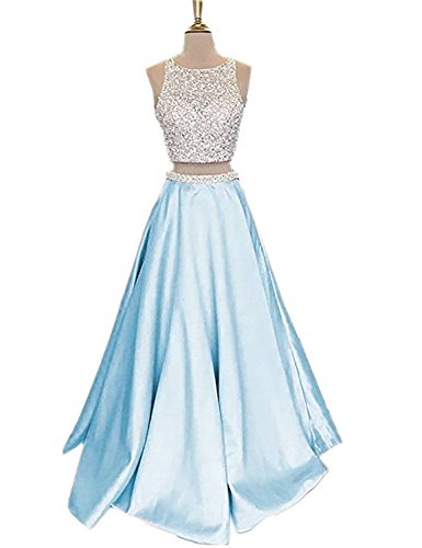 2 Piece Beaded Evening Gown - 5