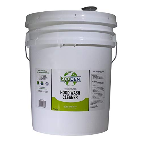 EcoGen ECOHDW-B Commercial Hood Cleaner Concentrate, Bucket, 5 gal (Used Restaurant Exhaust Hood)