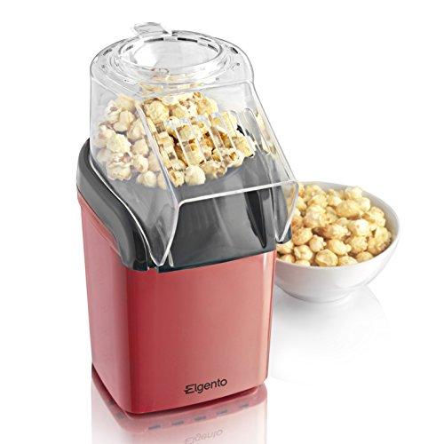 Elgento E26006 Hot Air Popcorn Maker, 1200 Watt, Red