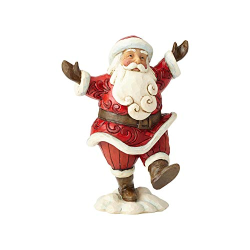 Enesco Jim Shore Heartwood Creek Pint Sized Walking Santa]()