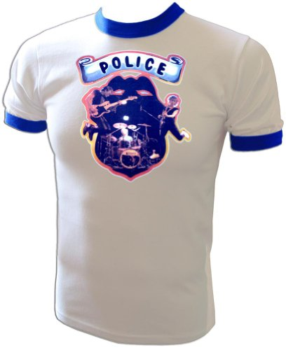 - Vintage Police Rock Concert First World Tour 1980 Promotional Press Ringer T-Shirt