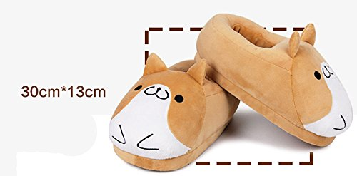Bedroom Non Dog Corgi Adult Skid Cotton Slippers Indoor Plush Soft Footpads Warm Slippers With wxwzOqd