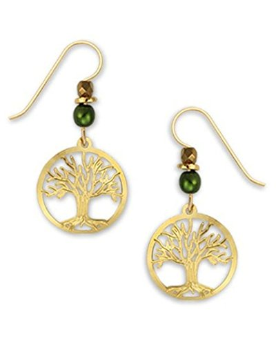 (Tree of Life Earrings Gold-tone Plated Made in the USA by Sienna Sky 1370)