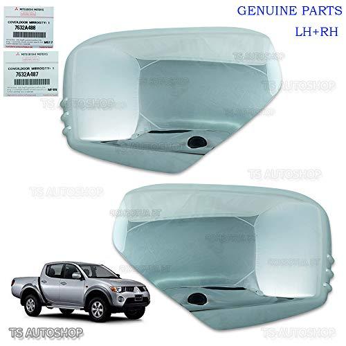 Powerwarauto Set LH RH Chrome Mirror Side Cover For Mitsubishi L200 Triton Mn ML 2006 2007 2008 2009 2010 2011 2012 2013 2014 UTE Pick-Up 2WD 4WD