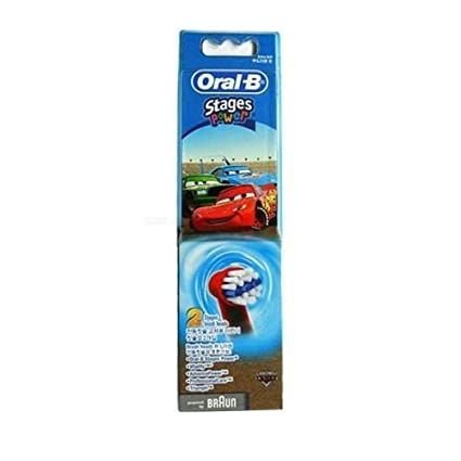 Braun Oral-B Stages Power - Cabezales para cepillos de Disney Cars pack de 2
