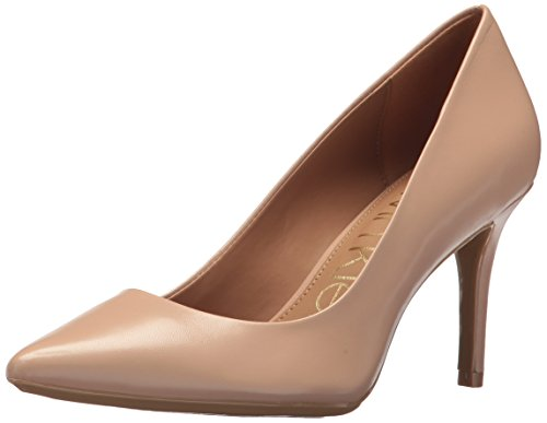Calvin Klein Women's Gayle Metallic Stingray Pump, Desert Sand, 10 Medium US