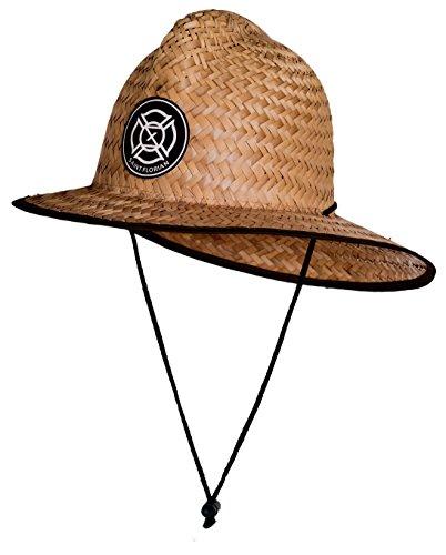Saint Florian Clothing Straw Firefighter Hat- Large/XL 60cm (Large/XL 60cm, Clean (Few Burn Markings)) -