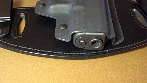 Hidden Hybrid Holsters, Taurus 709,740 w/ Crimson Trace - Black Kydex/ Black Leather- RH Draw