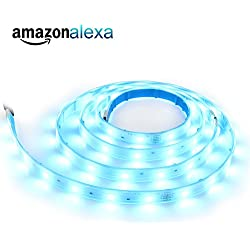 LED Light Strip Works with Alexa, LINEWAY Dimmable WiFi Control RGBW LED Alexa Light Strip (Standard Pack)