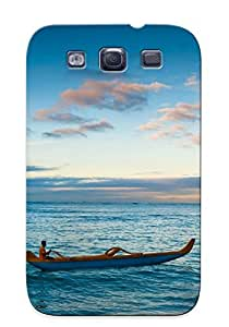 Durable Case For The Galaxy S3 - Eco-friendly Retail Packaging(ocean Canoe Oahu )