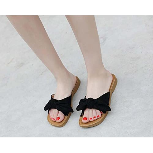 Femmes Pompe Plat Mules Open Pantoufles Cool Toe Talon Tongs Couleur wHgqtBIx6