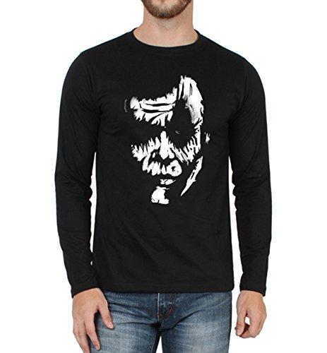 Sayitloud Men's Round Neck Cotton T-Shirt (silfs0200003_Black_Large)