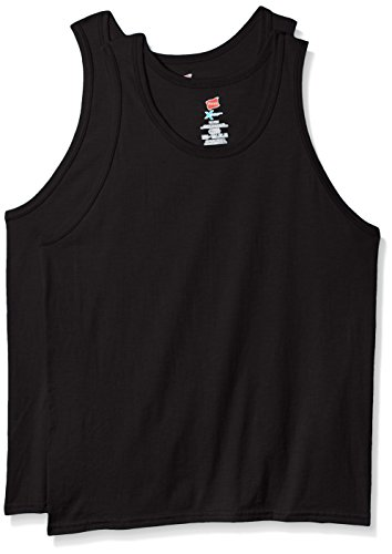 Hanes Men's X-Temp Tank Top 2 Pack, Black, XX-Large (Best Tank Tops For Guys)