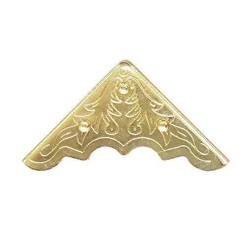 40 Pcs Decorative Brass Box Corners Cover Protector With Screws YB002YG