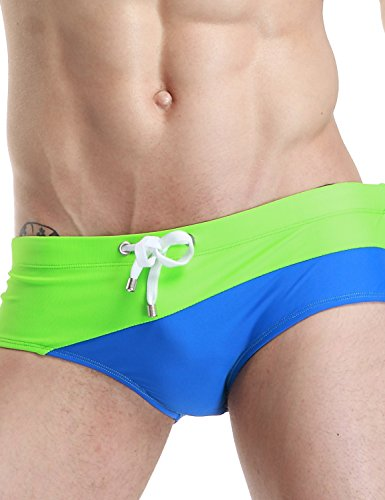 SEOBEAN Mens Low Rise Sexy Sport Swimwear Trunk Boxer Brief Bikini Swimsuit