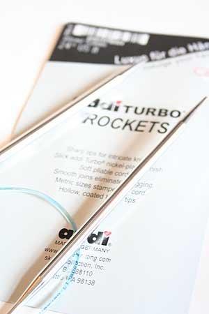 addi Knitting Needle Circular Turbo Rocket Lace Skacel Exclusive Blue Cord 60 inch (150cm) Size US 1 (2.5mm)