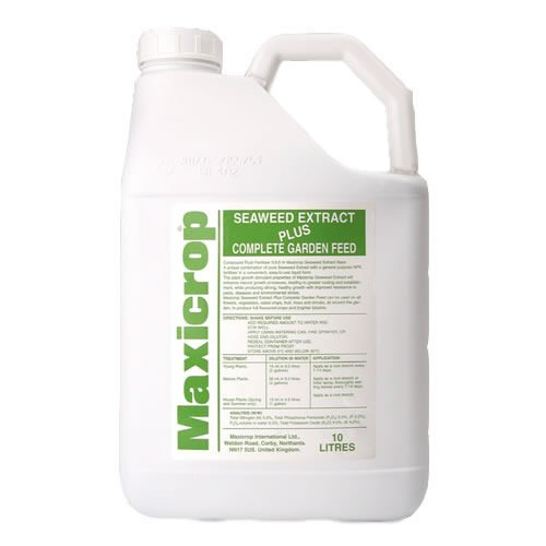 10L MAXICROP PLUS COMPLETE ORGANIC SEAWEED FERTILISER GARDEN FEED GROWING