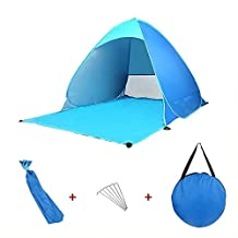 Suidcsui Lightweight Beach Tent Sun Shelter Portable Outdoor Sun Shade Quick Instant Pop Up Beach Umbrella with Carry Bag