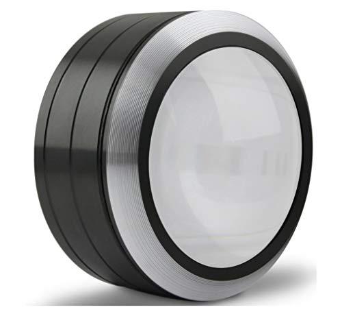 YYIN Lupa con 3 Luces LED de Alta Calidad 90 Cilindro ZEISS K9 Lente Pisapapeles de Escritorio Lupa (Color : Negro)