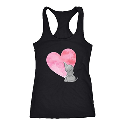 Elephant Racerback Tank Top T-Shirt. Funny Elephant Tank. Cool Shirt for Elephant (XS)