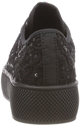 Esprit Dames Barbie Embro Sneaker Zwart (black)