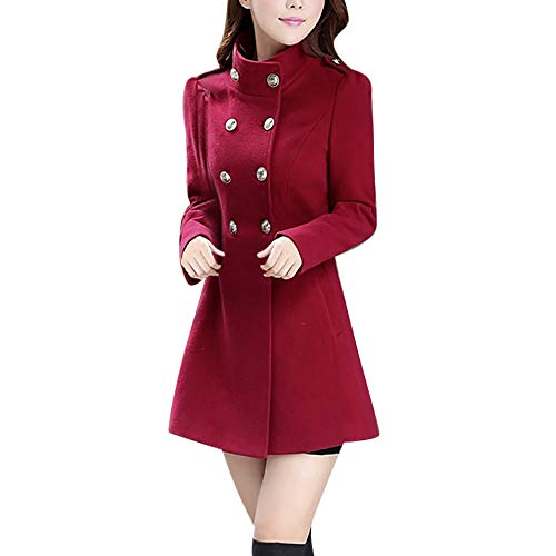 Caopixx Women Outwear Winter Jacket Warm Coat Faux Thick Warm Slim Jackets Cardigan Overcoat