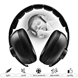 BBTKCARE Earmuffs Infant Hearing Protection/baby Headphones/Noise Cancelling HeadPhones for Babies for 3 Months to 2 Years (Black)