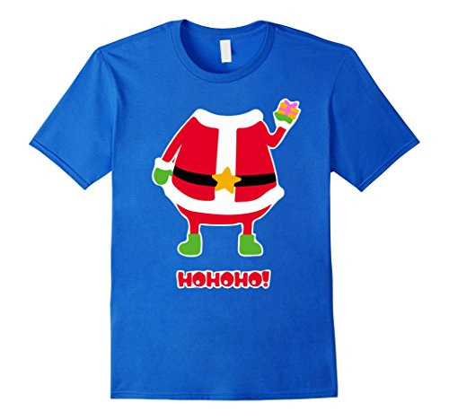 Ho Costumes For Men (Mens Funny Santa Claus Costume Outfit T-Shirt Ho Ho Ho Christmas 3XL Royal Blue)