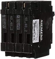 new Siemens Q24020CT2 One 20Amp One 40-Amp Double Pole Quadplex Circuit Breaker