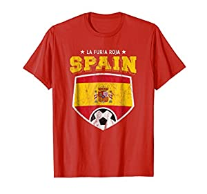 2018 Spain Soccer Espana Team Flag World Jersey Cup T Shirt