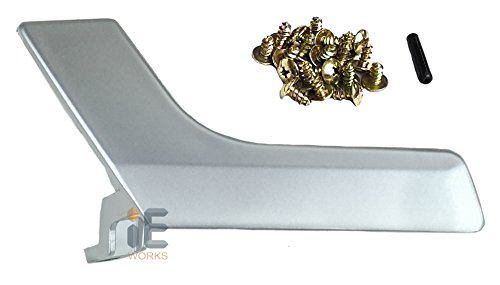 Interior Door Handle Repair Kit (Color: Matte / Silver Flat) (Driver Door / Rear Left Passenger) Mercedes-Benz X204 GLK250 GLK300 GLK350 W204 C230 C250 C350 C63 AMG Replacement Inside Inner