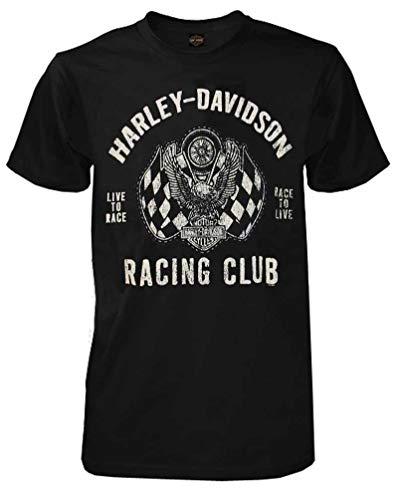 - Harley-Davidson Men's Racing Club Eagle Short Sleeve T-Shirt Black 30298296 (M)